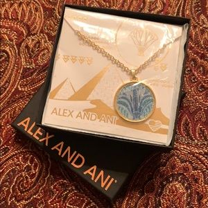 Alex and Ani 14kt Gold Plated Lotus Necklace NEW